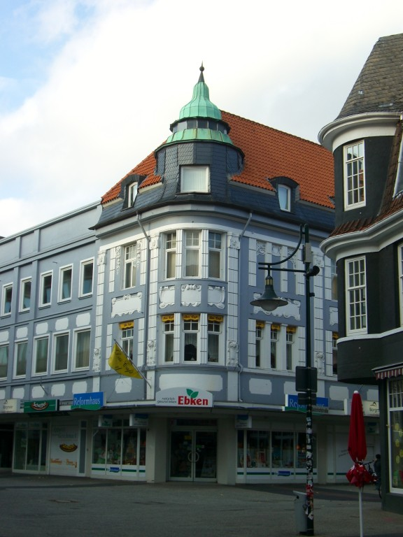 Westliche Lange Straße / Ecke Bahnhofstraße - früher Kaufhaus Hohenböken