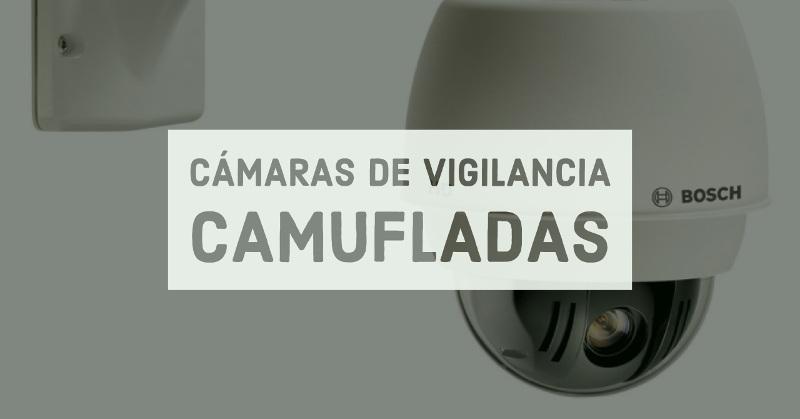cámaras de vigilancia camufladas