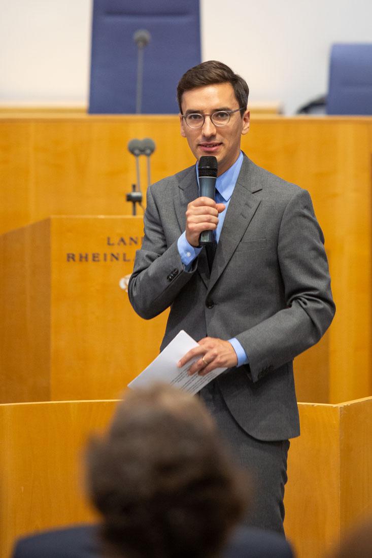 Moderation der Veranstaltung: Frederik Merx, landespolitischer Korrespondent des SWR