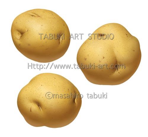 馬鈴薯 マッシュポテト 野菜 イラスト