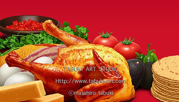 NRD2961鶏 食材 料理 鶏の丸焼き 美味しい シズル 調理