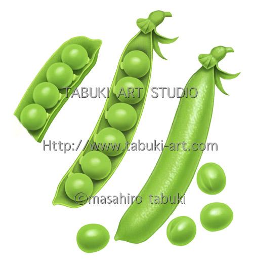 RD_3101 グリーンピース エンドウ豆 豆イラスト 野菜