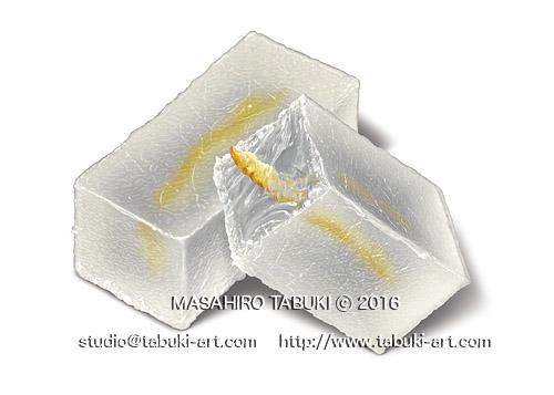 NRD2921_yuzu和菓子 お茶菓子 イラストサンプル