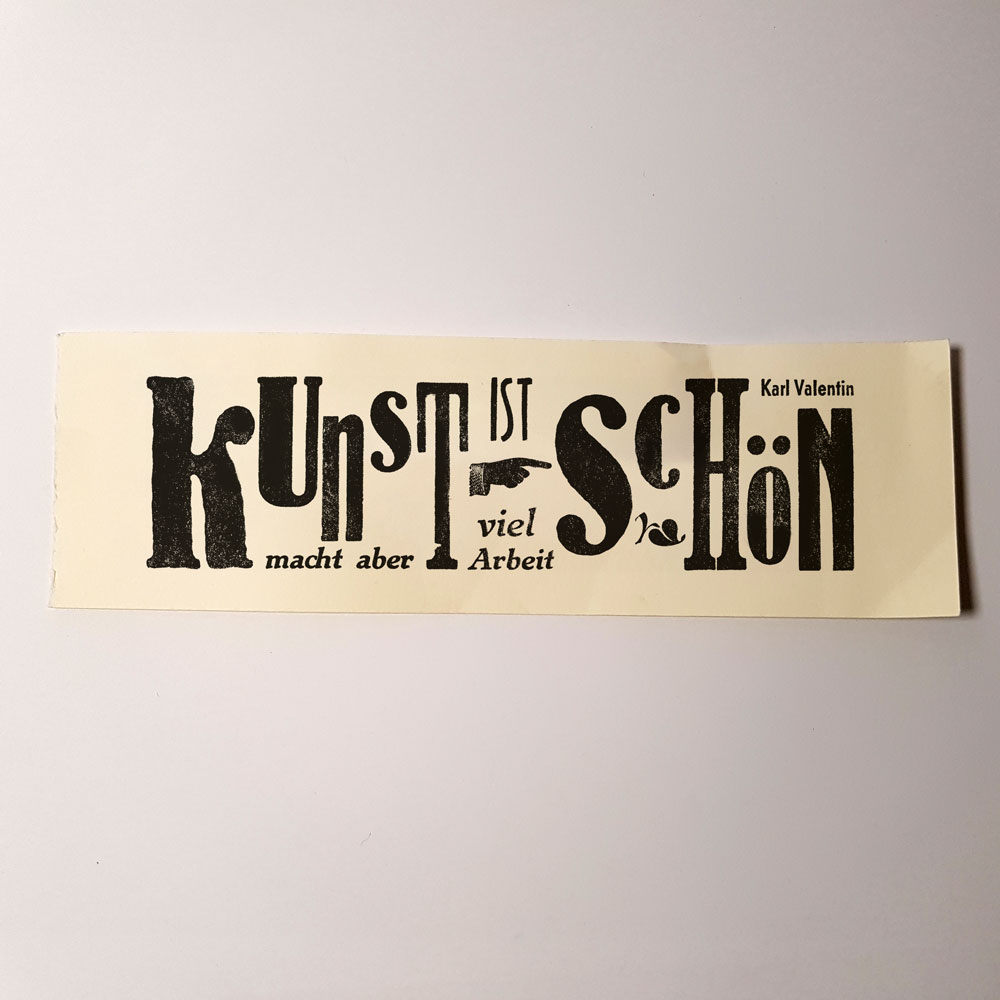Typografische Arbeiten jetzt im Shop