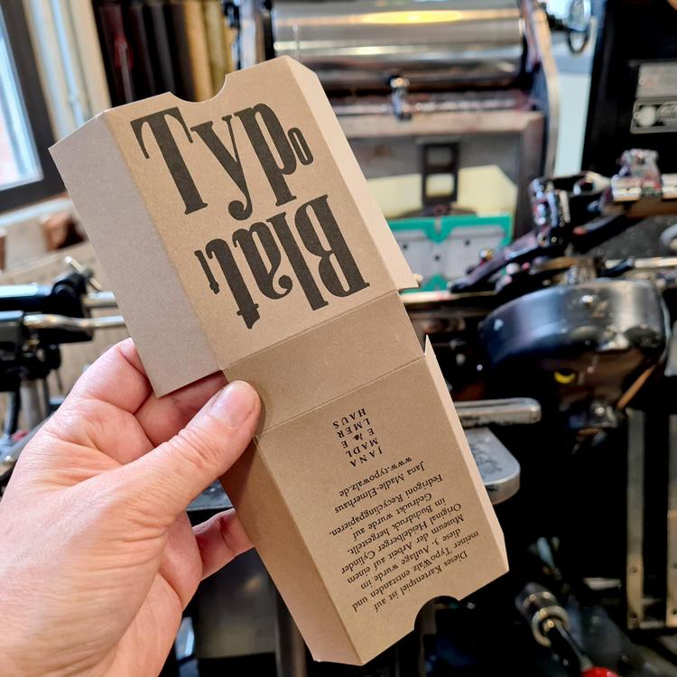 Die 3. Auflage wird ein TypoBlatt