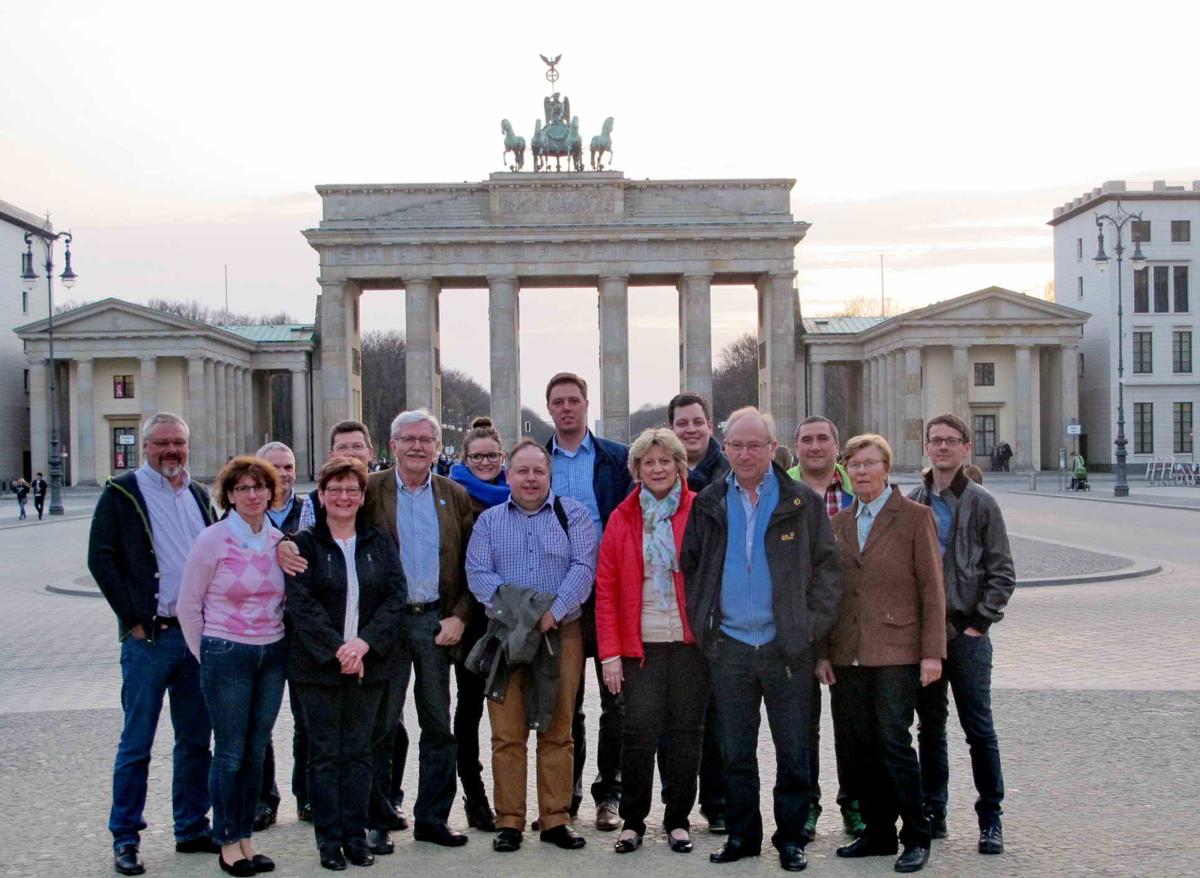 1. Tag - Am Abend noch ans Brandenburger Tor