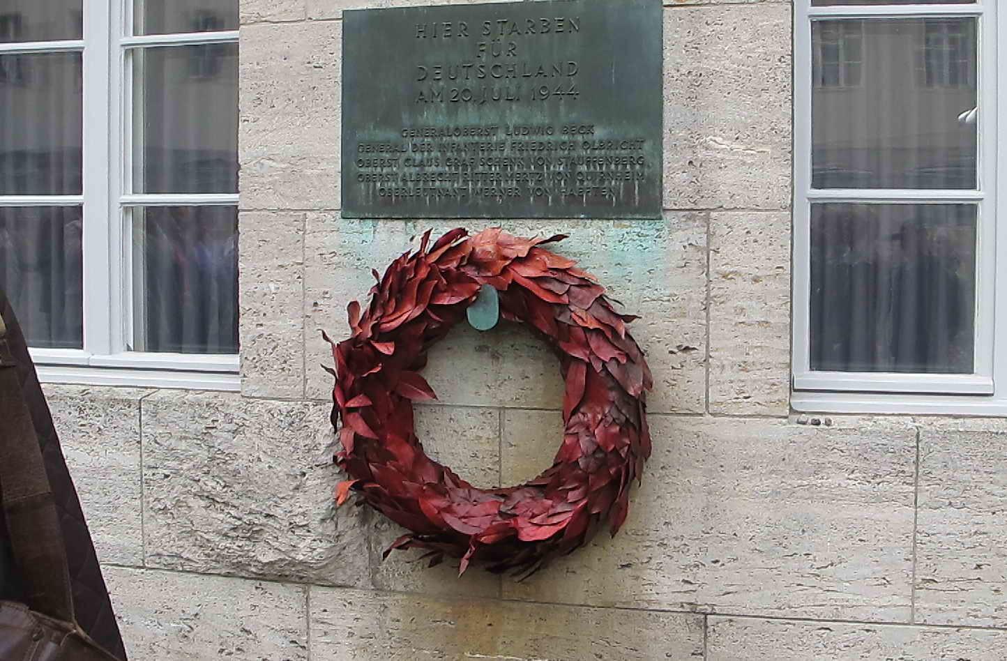 Gedenktafel für Graf Stauffenberg