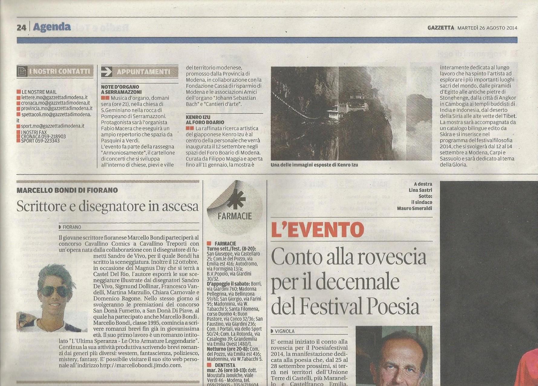26 Agosto 2014 - Gazzetta Di Modena
