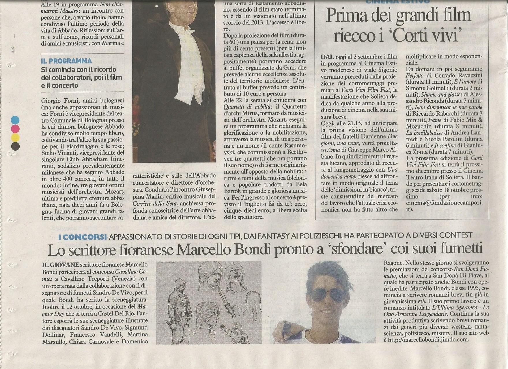 26 Agosto 2014 - Il Resto Del Carlino (Sezione Di Modena)
