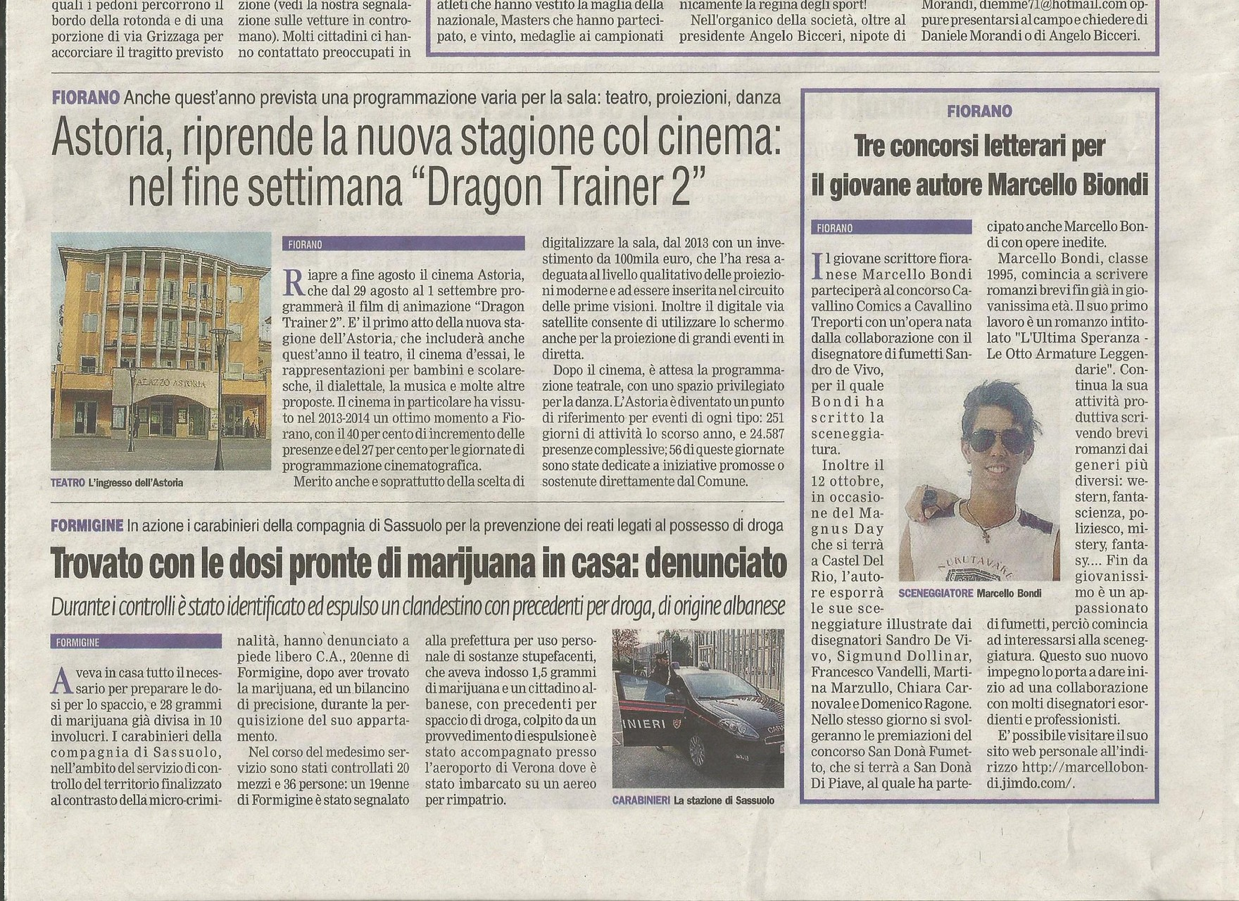 27 Agosto 2014 - La Nuova Prima Pagina