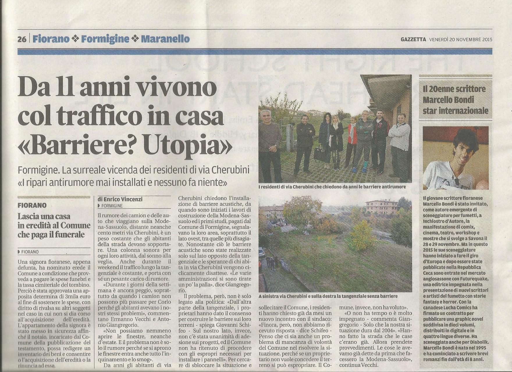 20 Novembre 2015 - Gazzetta Di Modena