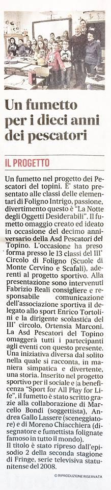 28 Febbraio 2018 - Il Messaggero (Umbria)