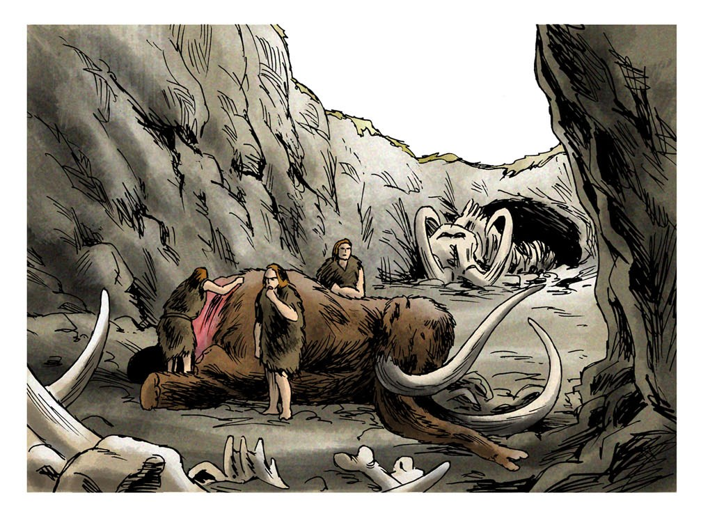 charognage (dessin Eric Le Brun)