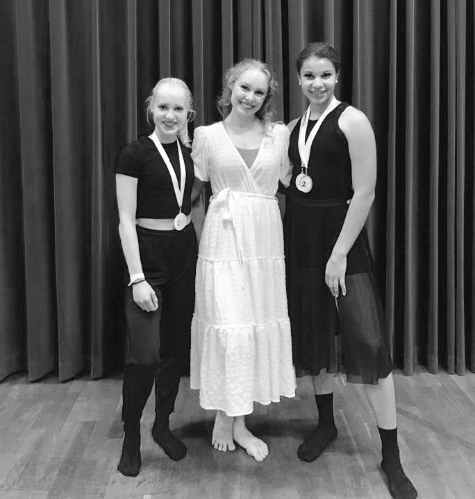 2 Mal Gold, 2 Mal Silber und 2 Bronze beim Jazz-Modern und Contemporary Tanzturnier in Griesheim