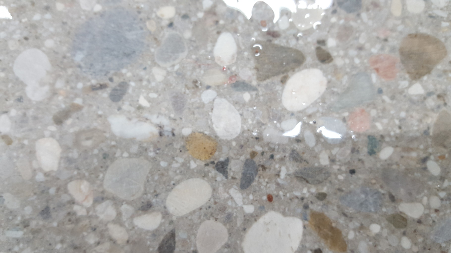 Ergebniss Bodenplatte geschliffen