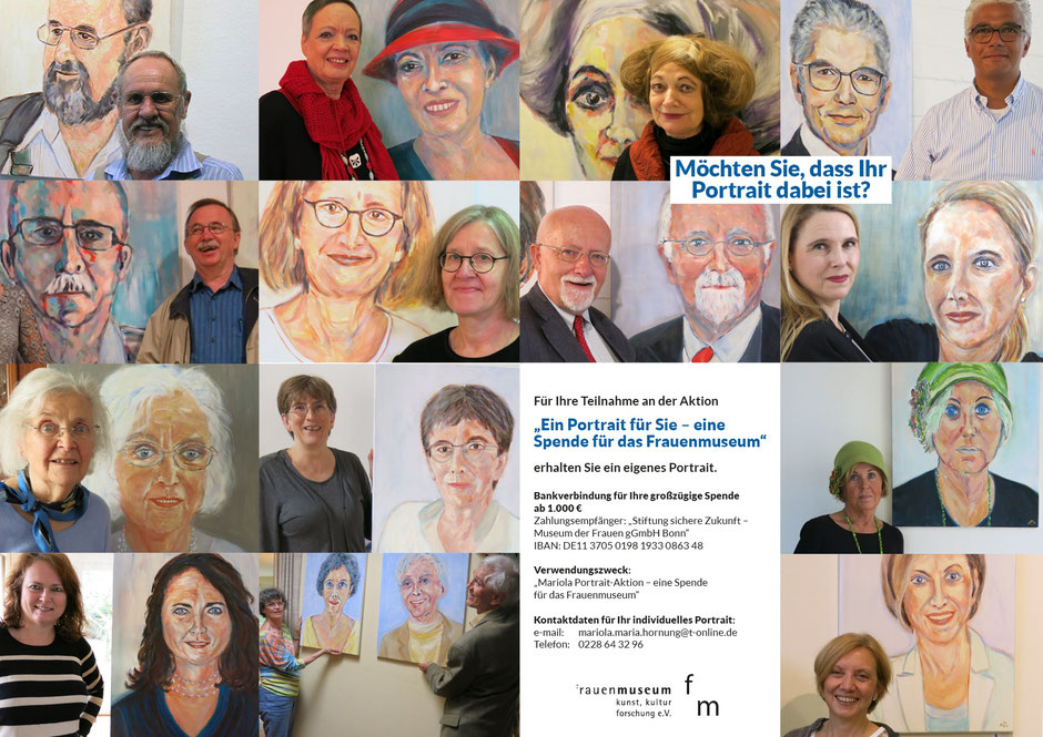 Portrait Aktion von Mariola Hornung, Kontakt: mariola.maria.hornung@t-online.de