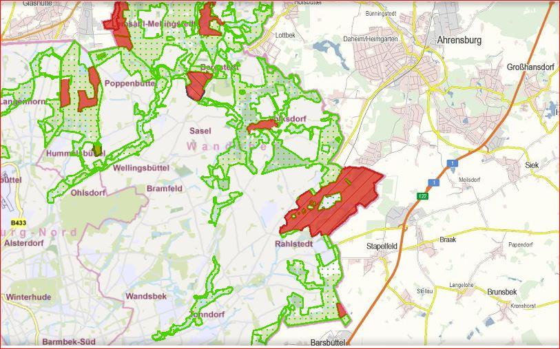 vom geplanten VICTORIAPARK bis Barsbüttel - Landschaftsschutzgebiet seit 19.12.1950!!