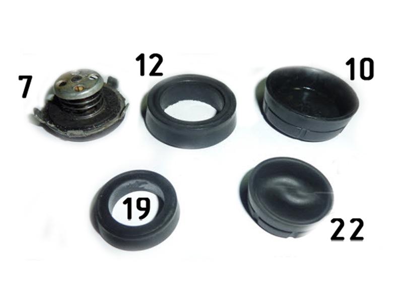 51-3505020, 12-3501051, 51-3505035, 21А-1602548-Б, 21А-1602554 Reparatursatz Hauptbremszylinder HBZ GAZ 21 Wolga. Repair kit brake master cylinder GAS 21 Volga.