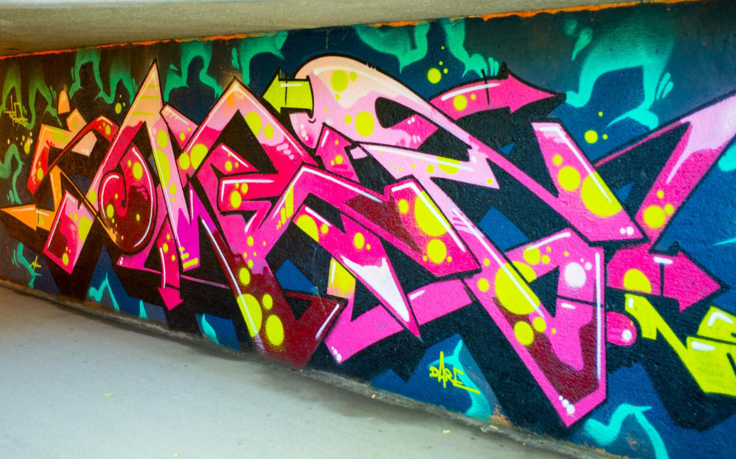 Grafitti in der Unterführung beim Friedensengel.