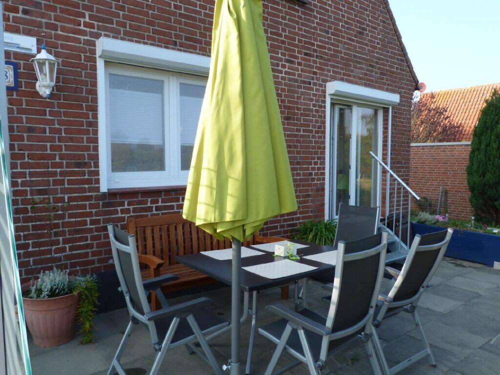 Terrasse ist extra eingezäunt