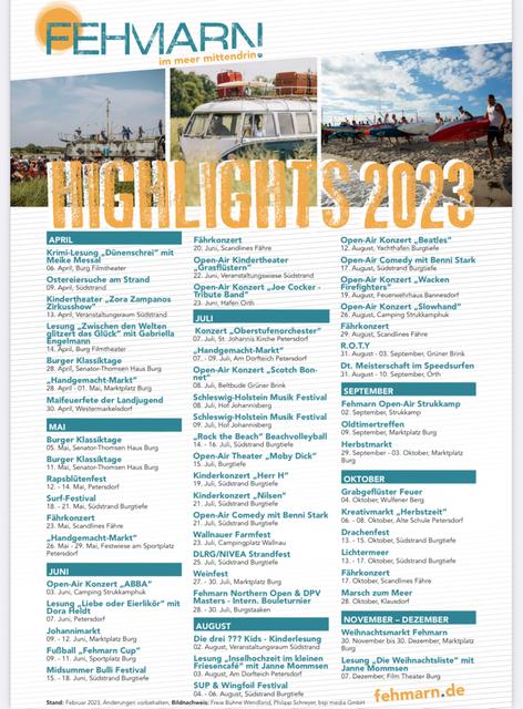 Veranstaltungen auf Fehmarn 2021