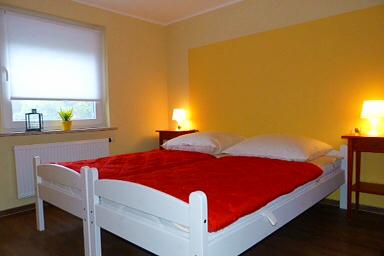 Die Betten haben komfortable Matratzen