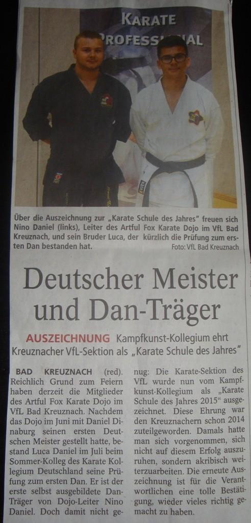 Allgemeine Zeitung Bad Kreuznach, September 2015