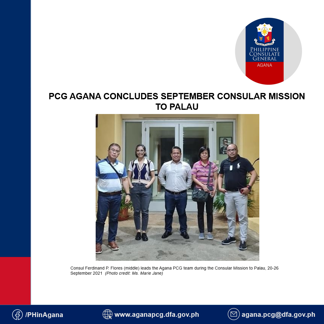 PCG Agana Concludes September Consular Mission to Palau
