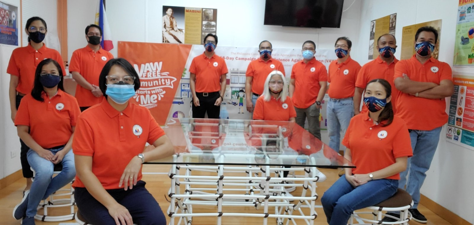 PHL Consulate General in Agana Joins 18-Day Campaign to End Violence Against Women (VAW)