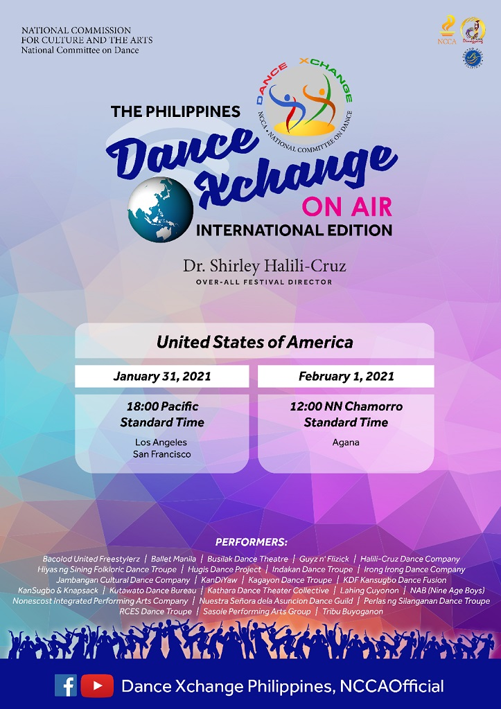 "Save the Date: 01 February 2021 for ""The Philippines Dance Xchange on Air International Edition"""
