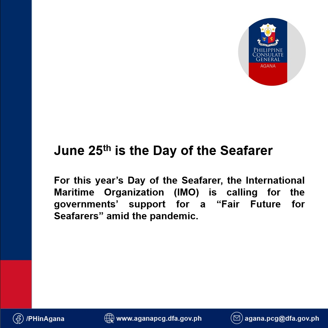 June 25th is the Day of the Seafarer