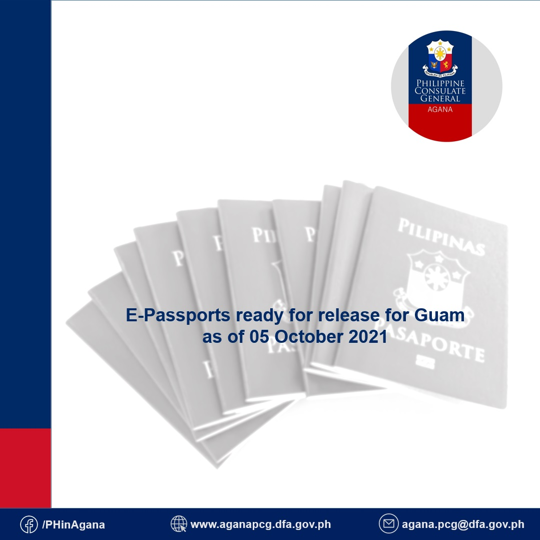 E-passports ready for release for Guam as of 05 October 2021