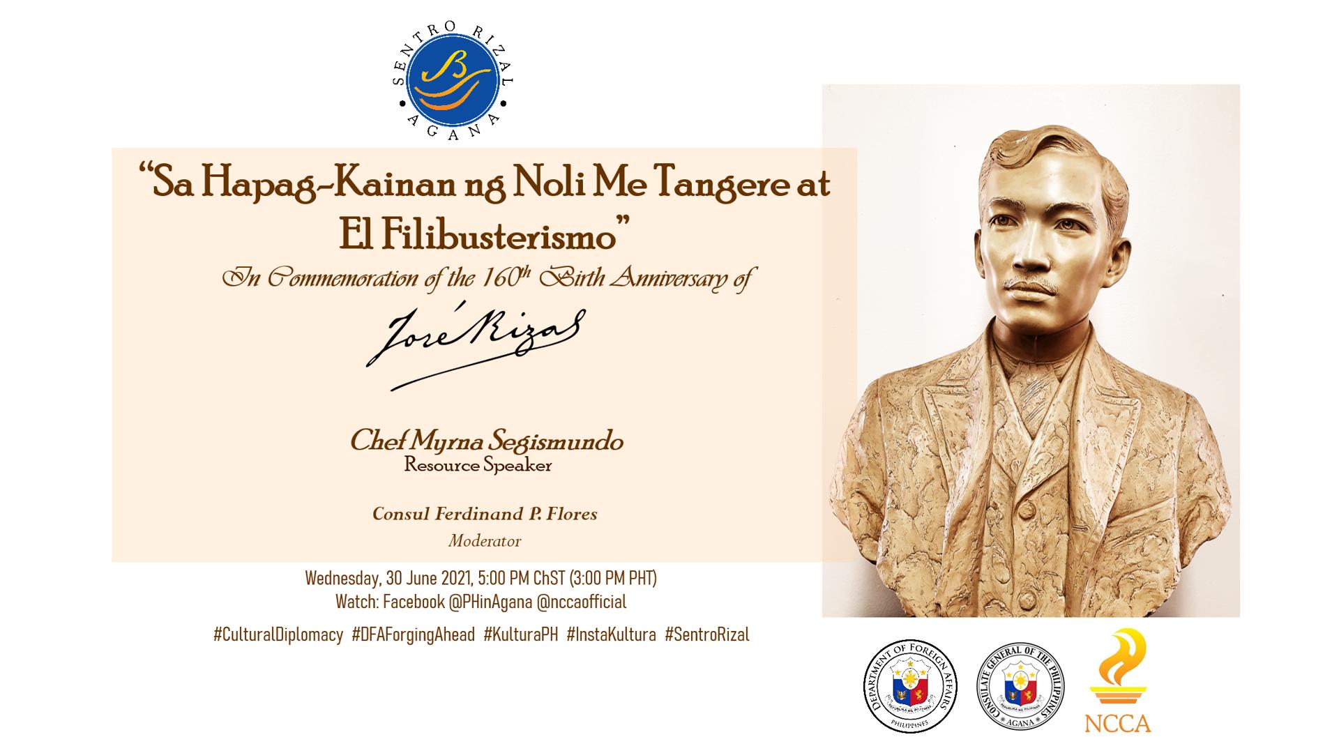 PHL Consulate General Commemorates the 160th Birth Anniversary of Dr. Jose P. Rizal through a Gastronomic Lens