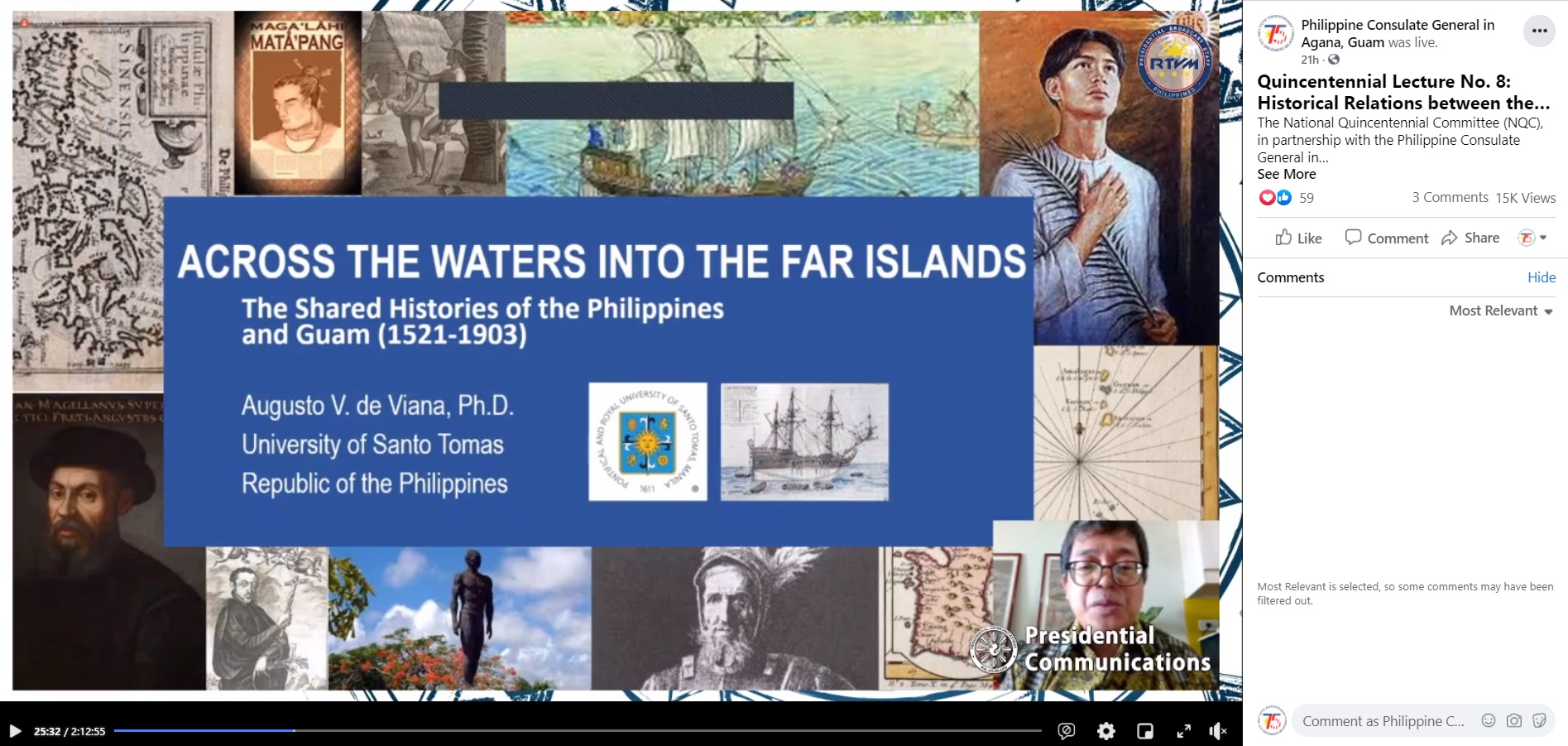 PHL Consulate General Hosts Online Lecture on PHL-Mariana Islands Historical Relations
