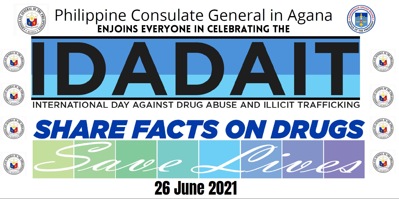 June 26th is the  International Day Against Drug Abuse and Illicit Trafficking