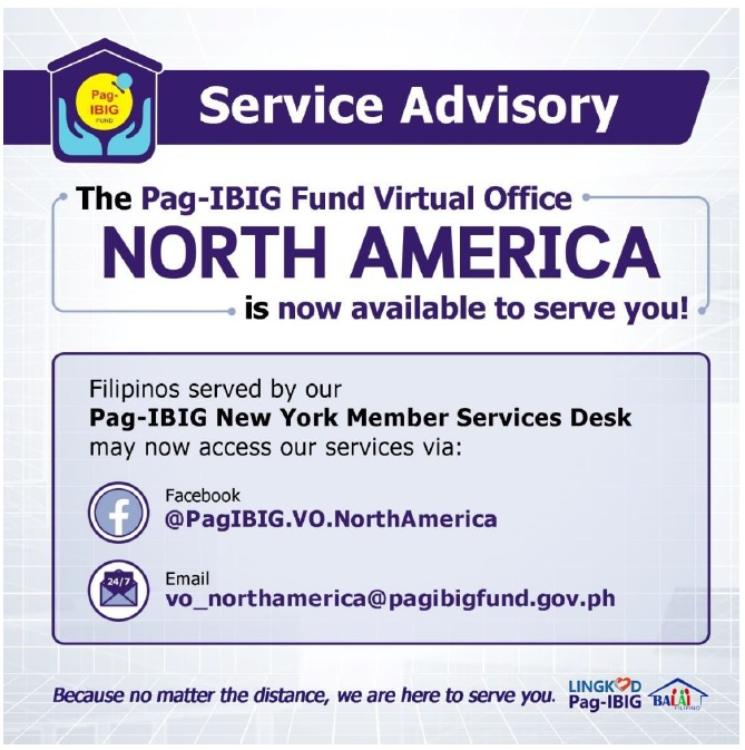 Pag-IBIG Fund Virtual Office - North America