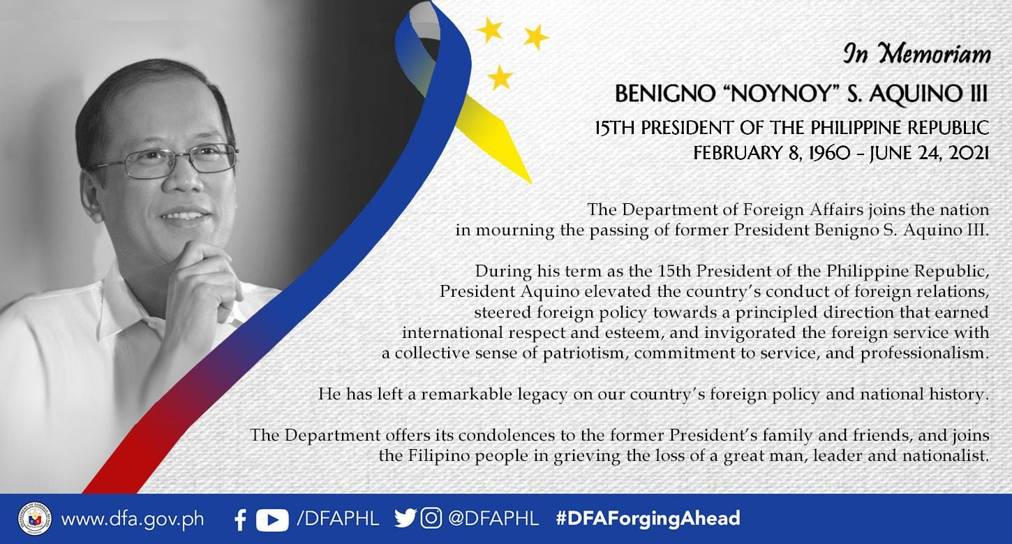 Condolence Book Signing on the demise of Former President Benigno S. Aquino III