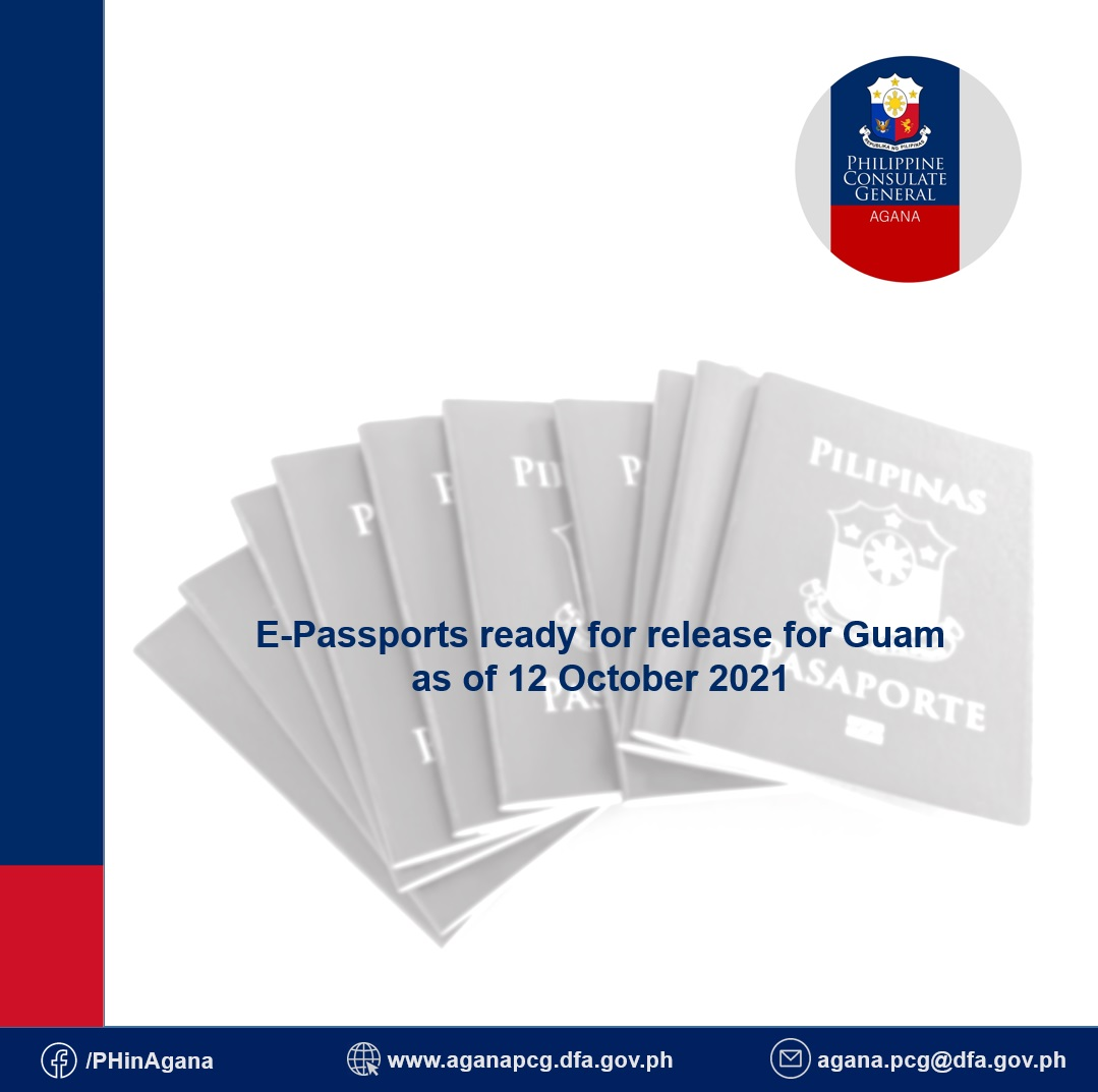 E-passports ready for release for Guam as of 12 October 2021