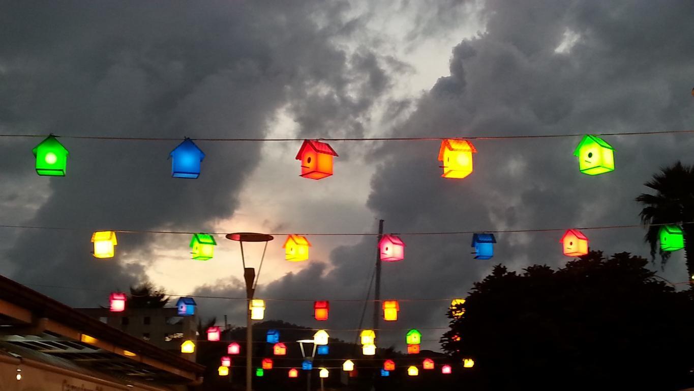 Göcek am Abend mit Beleuchtung