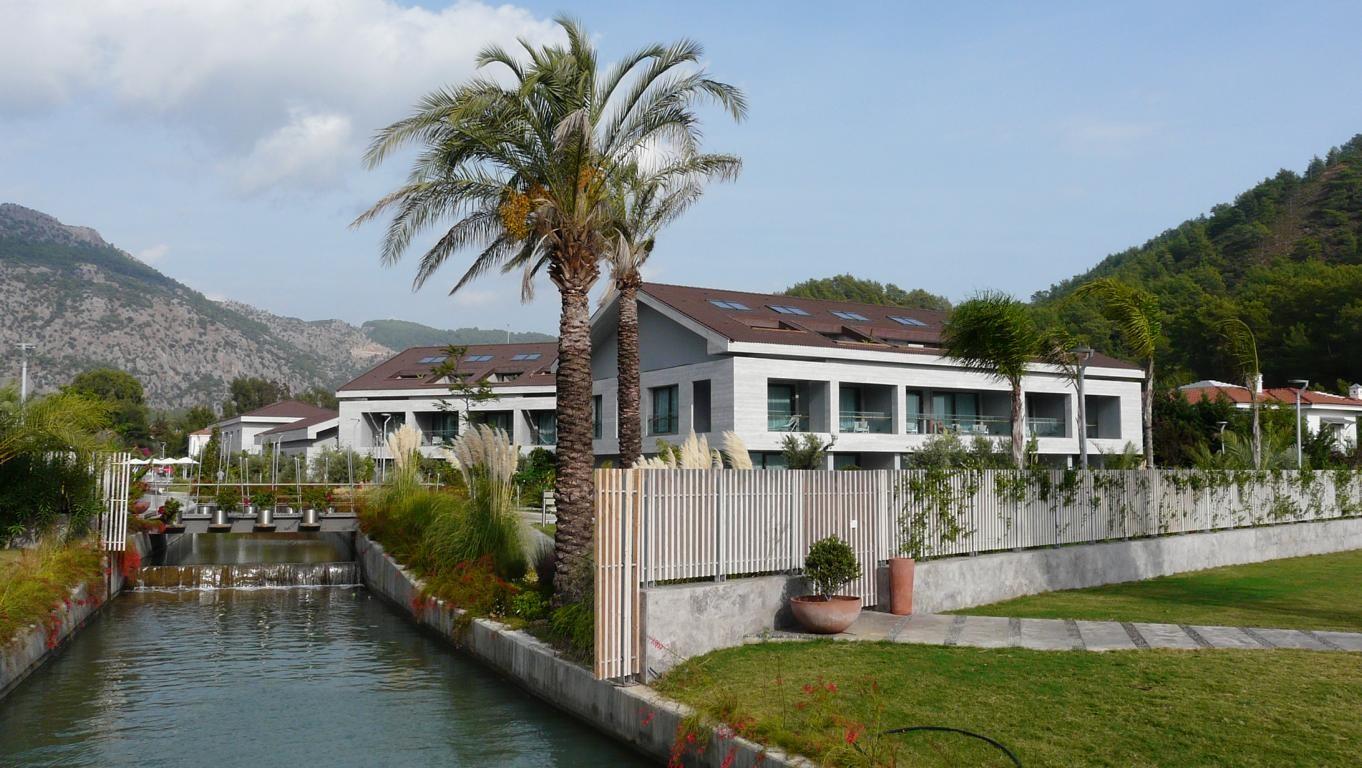 Moderne Ferienanlagen gibt es auch