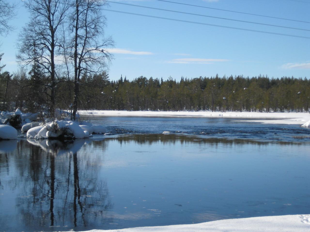 Teich an der Loipe in Richtung Lillehamer