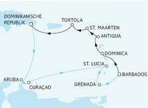 """Quelle: TUI-Cruises, Route """"Mein Schiff 2"""""""