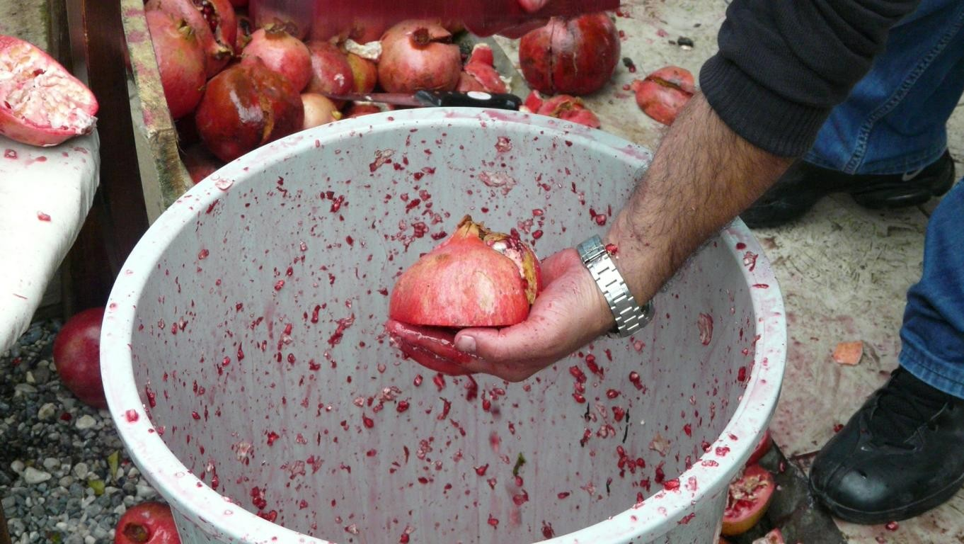 Herstellung von Granatapfelsaft