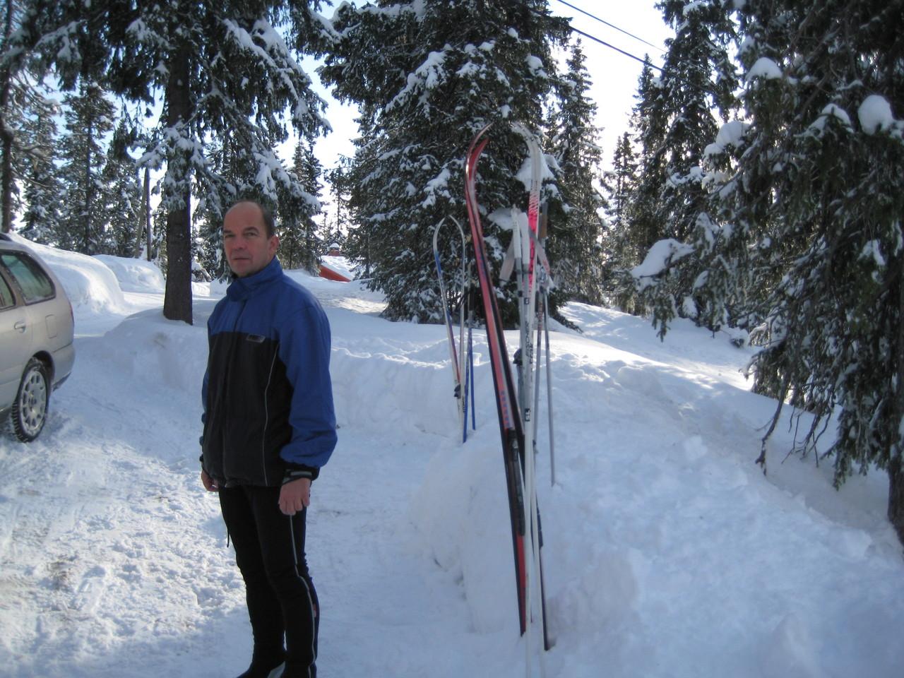 an der Hütte geht es gleich auf die Ski