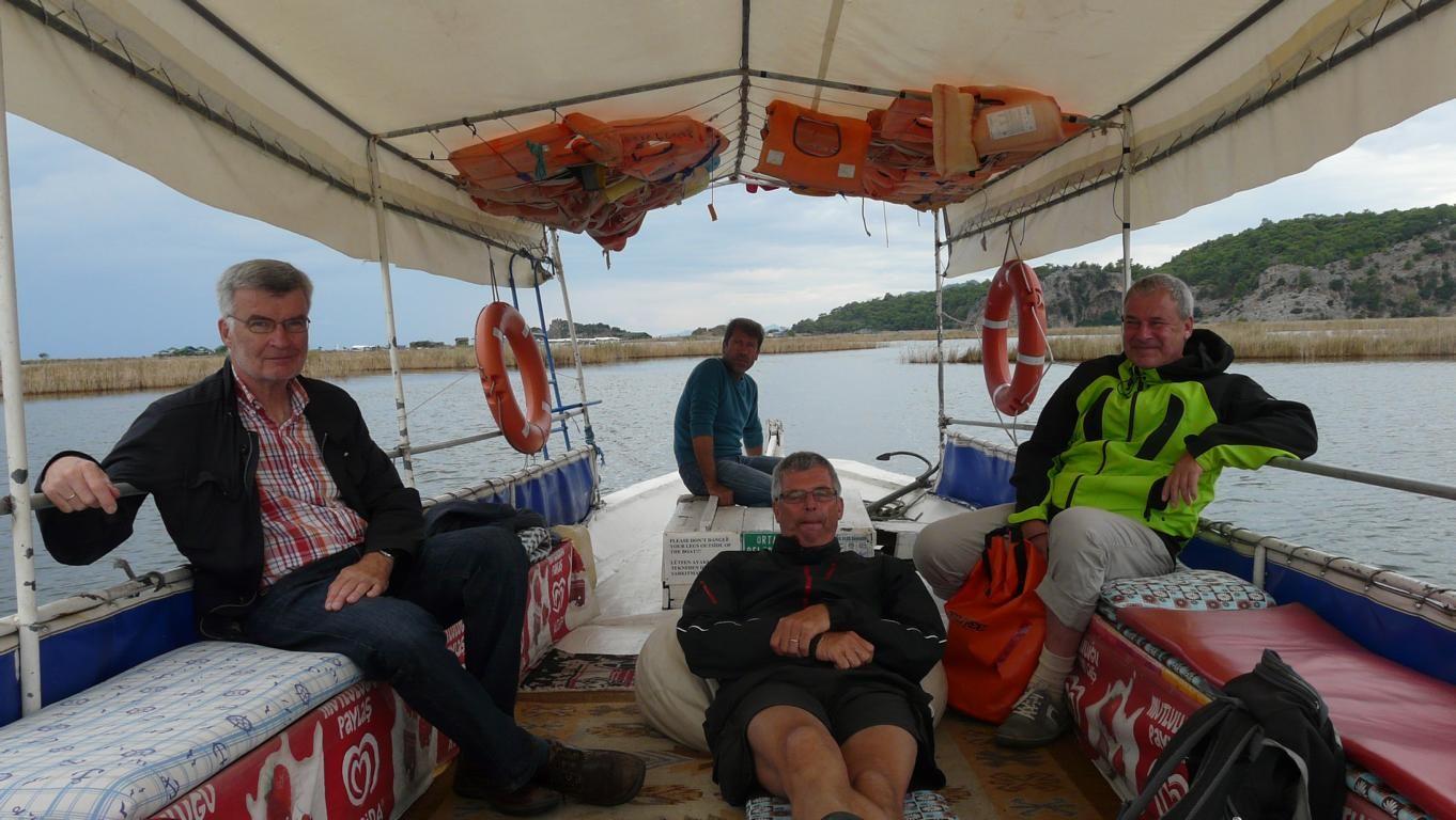Unser Dolmusboot zurück