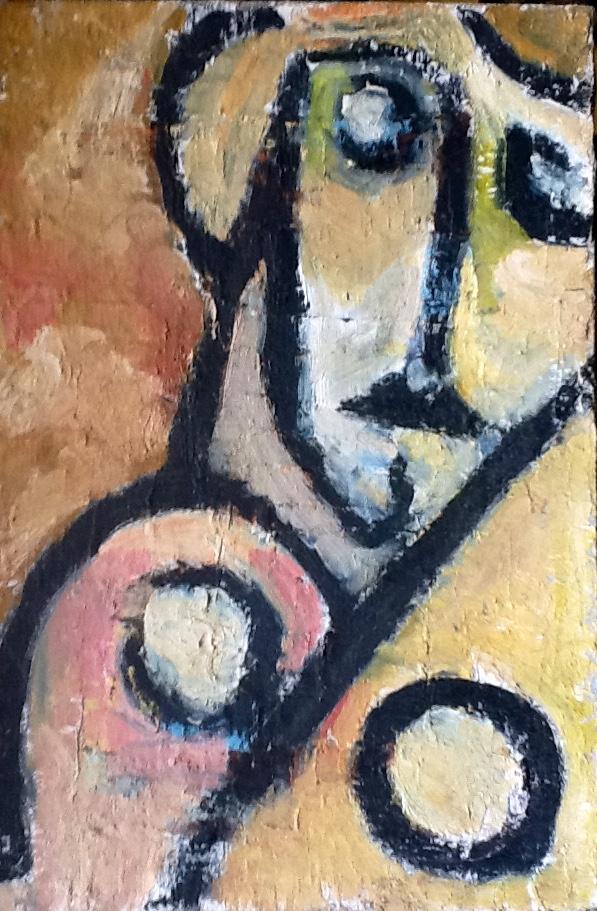 Donna (1977 - Tecnica mista su tela - 40x60)  Collezione Privata – Milano
