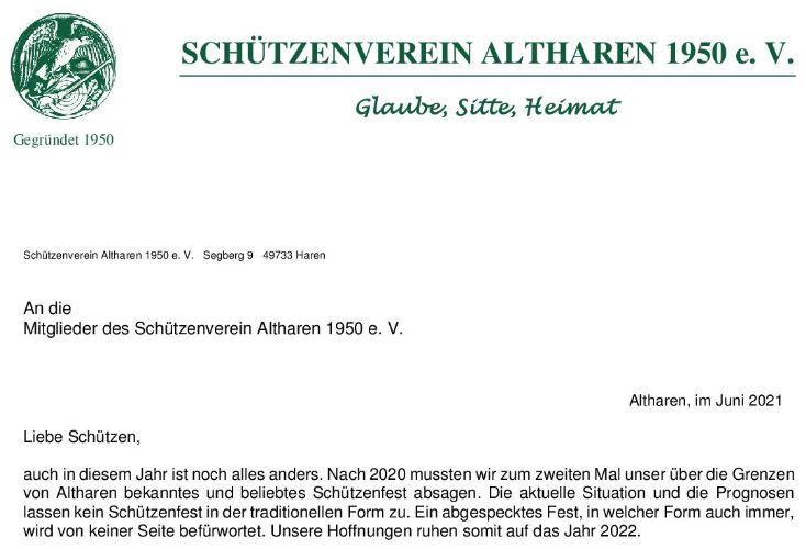 Mitgliedsbrief 2021