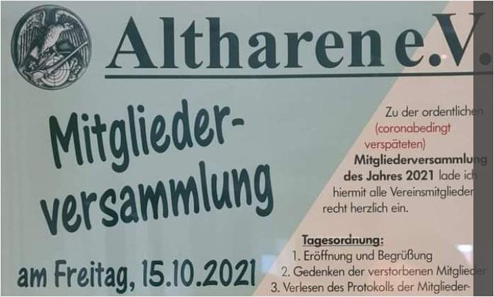 Mitgliederversammlung 2021