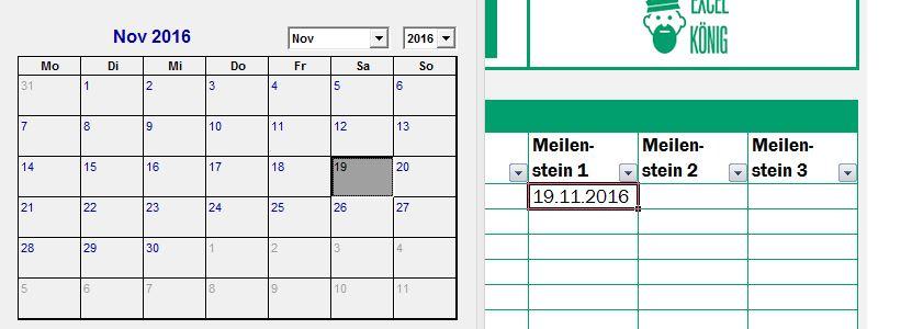 Beispiel Kalender Popup