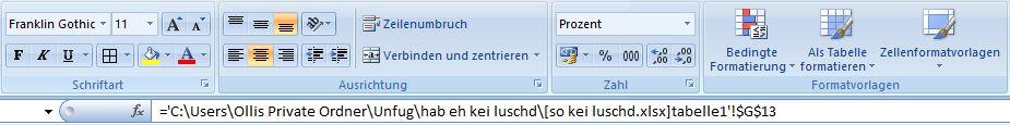 Excel Verlinkung
